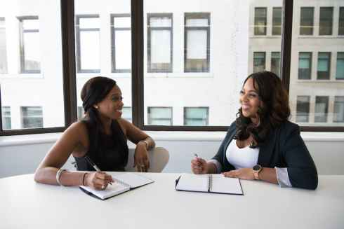 adult african american people black women business